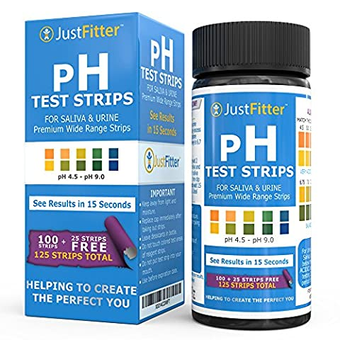 pH Test Strips for Testing Alkaline and Acid Levels in the Body. Track & Monitor (One Way Kit)
