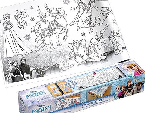Großartiger Malspaß| Malbuch|Malrolle selbstklebend Anna und Elsa aus Eiskönigin|