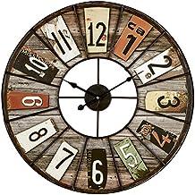 Horloge industriel for Horloge murale grand format