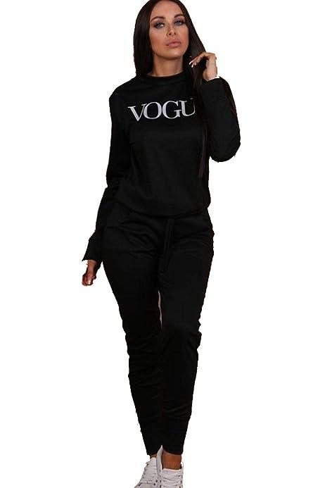 New Womens Ladies Kids Vogue Print Loungewear Set Fleece Tracksuit sizes {8-14}