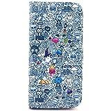 Matek® iPhone 4S 4G cuero Funda (Kid toys) patrón moda Impresión Monedero Funda con Tarjetas Slots Imán del tirón Párese Estuche de cuero