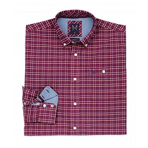 Crew Clothing Ambleside Mens Shirt Cranberry