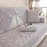 Sofa abdeckungen l Form Sofabezug Waschbar,Dauerhaft Bettüberwurf Für 1 2 3 4,Maschine 1 stück Anti-rutsch Fleck beständig-weiß -A 70x210cm(28x83inch)