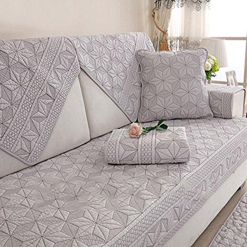 Sofa abdeckungen l Form Sofabezug Waschbar,Dauerhaft Bettüberwurf Für 1 2 3 4,Maschine 1 stück Anti-Rutsch Fleck Beständig-Weiß -A 70x210cm(28x83inch) (3 Loveseat Stuhl Sofa Stück)