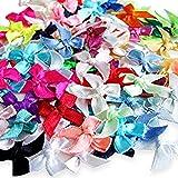Runfon 100 Satin-Schleifen Mini gemischt Verzierung Craft Künstliche Aufnäher Hochzeit 100% Neu