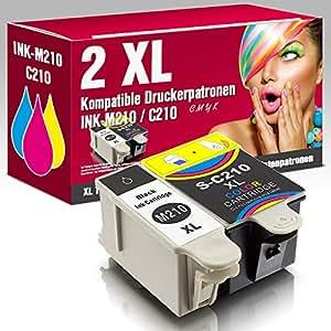 ms-point® 2 kompatible Druckerpatronen für Samsung CJX-1000 CJX-1050W CJX-2000FW Patronen kompatibel zu INK-M210 INK-C210 INK-M215