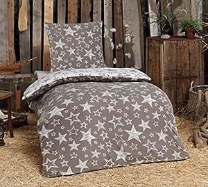 4tlg warme winter bettw sche fleece flausch 2x 135x200. Black Bedroom Furniture Sets. Home Design Ideas