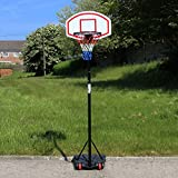 URBN Toys Outdoor Free Standing Portable Adjustable Basketball Hoop & Net Set