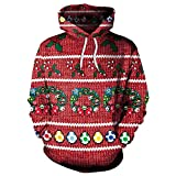 Kostüme Für Weihnachten, Kapuzenpullover Für Weihnachten, 3D Prints Stil Für Männer Und Frauen, Weihnachtsfeiern, Geburtstagsfeiern Und Verschiedene Urlaubspartys,M