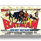 """Box Prints Batman Poster de Film Rétro Motif Batman, Mittel 60x46cm (24""""x18"""")..."""