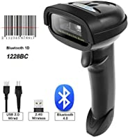 NETUM Bluetooth CCD Barcode Scanner Wireless Barcode Reader Handheld USB 1D Bar Code Imager for Mobile Payment Computer Scre