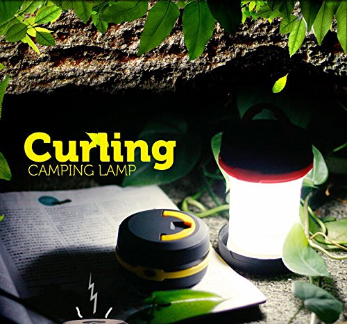 Kawachi Waterproof Portable Scalable LED Outdoor Camping Lantern Mini Tent Light (Black)