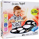Click n' Play Kinder Elektronische Touch Sensitive Spielmatte Drum Set mit echten Drum Sounds