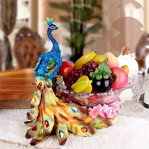 LHL-Fruit tray Europäische Stil Obstschale Pfau Dekoration Wohnzimmer Home Dekorationen Einrichtungsgegenstände (Farbe : B)