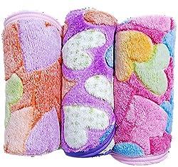 Brandonn Corel Fleece Heart Printed Softy baby Blanket cum Wrapper,Multicolor