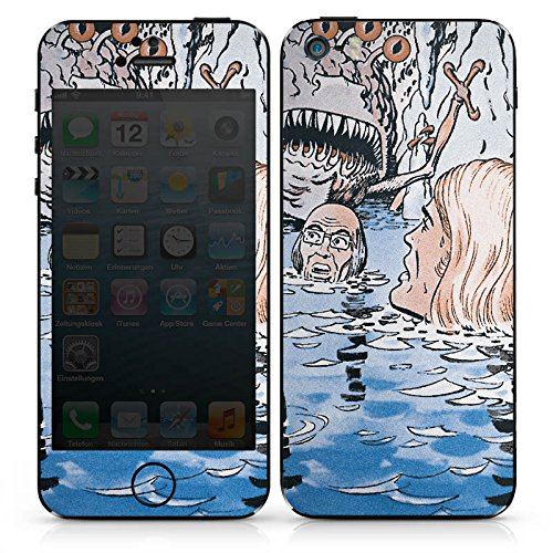 Apple iPhone SE Case Skin Sticker aus Vinyl-Folie Aufkleber Jan Tenner Fanartikel Merchandise Retro DesignSkins® glänzend