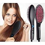 ISABELLA Professional Ceramic Hair Straightener Brush with Temperature Control for Women, hair straightener for women...