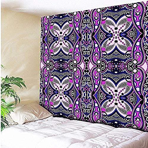 acccc Tapisserie Schwarz,Floral Boho Teppich Wohnzimmer Yoga Decke Wandbehang Strand werfen Handtuch 75 * 90cm -