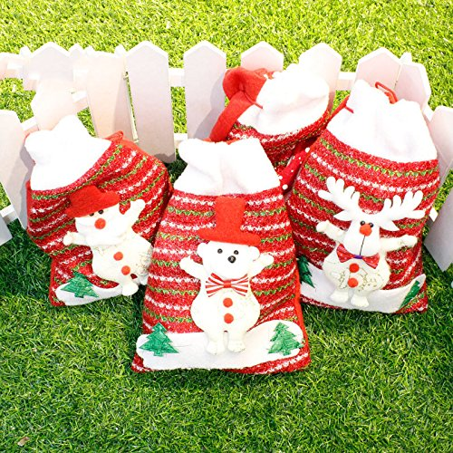 Bluelover Christmas Day Stocking Packing Geschenkbox Cute Santa Decoration Candy Box Stocking Taschen 18 * 24Cm
