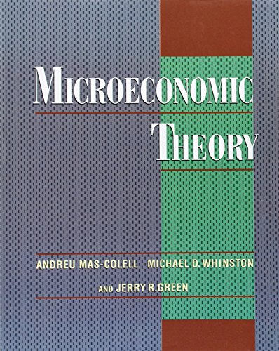 Portada del libro Microeconomic Theory by Andreu Mas-Colell (7-Sep-1995) Paperback