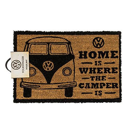 Fußmatte - VW Camper | Fußabtreter Haustür | Türvorleger mit Motiv | Schmutzmatte Eingangsbereich | Geschenk für Männer | Preis am Stiel
