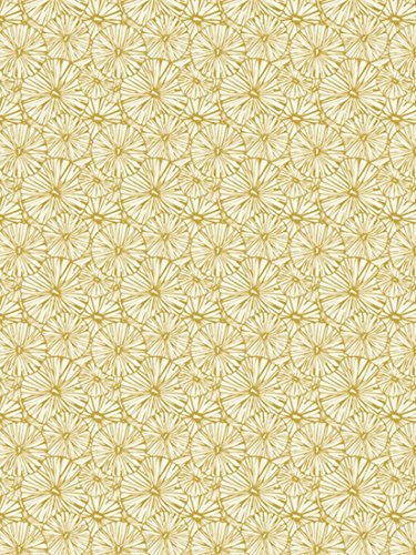 1 Blatt DecoPatch Papier Nr. 790, Metallic Blumenmuster gelb gold