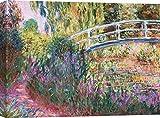 Art Print Cafe - Quadro - Stampa su Tela - Claude Monet, Il Ponte Giapponese, Stagno con Ninfee - 100x70 cm