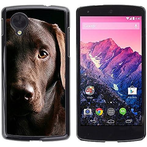 Golden Retriever Black Sad Dog - Aluminum Metal & plastica dura Phone caso - nero - LG Google NEXUS 5 / E980 /D820 / D821