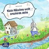 Klein Häschen wollt spazieren gehn. Mini-Bilderbuch.: Ein Spiellied