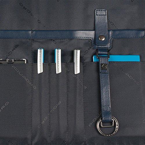 Piquadro CA3341WA/GR Borsa Messenger, Linea Wassily, Grigio, 42 cm Blu