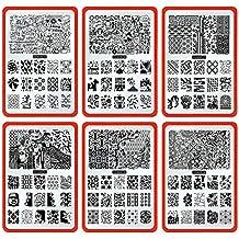 CICI y SISI Nail Art Sello Collection Set Jumbo 4 Set de 6 JUMBO Nailart polaco Stamping Manicura imagen Placas Accesorios Kit Todos los nuevos diseños con GRATIS Stamper y RASPADOR herramientas Conjunto