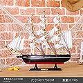 BDASDF massivholz Segel Segel - Modell im mediterranen Stil Wohnzimmer Kreativ Hand Requisiten holzboot Ornamente Ornamente von BDASDF