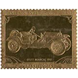 Islas Bernera Escocia : Classic Cars - STUTZ BEARCAT 1911 / Pan de oro sello / perforado . Valor nominal £ 12 / 1987 / Bernera / MNH