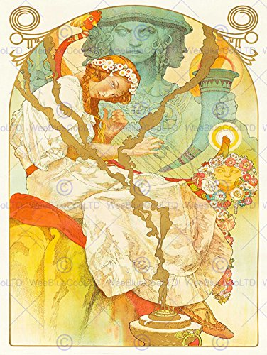 advert-slave-epic-brno-czech-mucha-nouveau-svantovit-harp-poster-affiche-30x40-cm-12x16-in-bb7891b