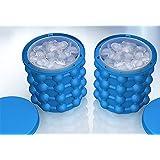 Ice Genie Cube Maker Seau à glace en silicone à double usage Revolutionary Save Space Seau à glace en forme de cube