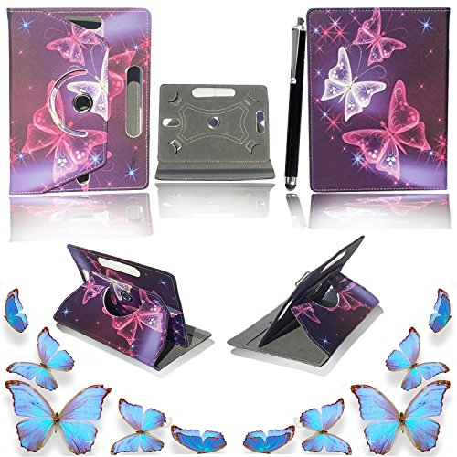 7'' Universal Tablet Hülle - Mobile Stuff Ultra Slim PU Leder Flip Cover Schutzhülle für tablet PC Painted Case Lederhülle Ledertasche Etui Hülle Tasche Schale mit Ständer Function + Stylus (Universal Hülle für 7 Zoll, Butterfly Blue Book) Lenovo Tab 2 A7-10 7 Zoll Tablet Pc, Huawei Mediapad X2, Odys Rapid 7 LTE 7 Zoll Tablet-PC, Asus Nexus 7, Alldaymall A88X 7 Zoll Tablet PC, Dragon Touch Y88X Plus 7 Zoll Tablet PC, iRULU eXpro 1 Tablet PC (X1), XIDO X70 7 Zoll Tablet-Pc