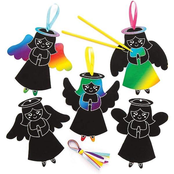 "Bastelidee f/ür Kinder 10 St/ück buntes Regenbogen-Kratzpapier Baker Ross Kratzbild-Bastelsets /""/Ägypten/"" mit Magneten"