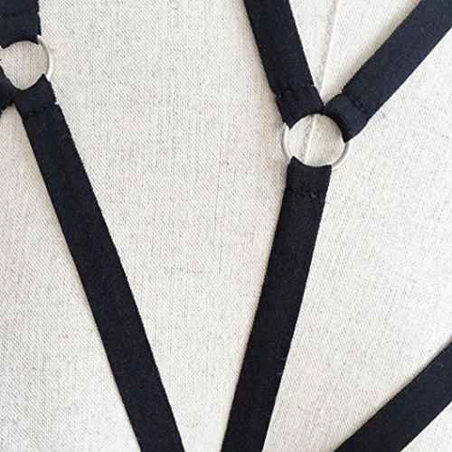 Manadlian ♥ Büstenhalter ♥ Frauen Harness BH elastischen Käfig Schwarz