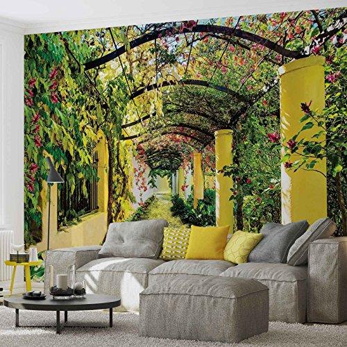 Tapeto Fototapete - Blumen Passage Garten - Vlies 254 x 184 cm (Breite x Höhe) - Wandbild Natur...