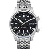 SPINNAKER Men's Bradner 42mm Steel Bracelet & Case Automatic Black Dial Analog Watch SP-5062-11