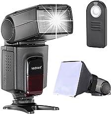 Neewer - Kit di TT560 Flash Speedlite per Canon Nikon Olympus Fujifilm e Qualsiasi Fotocamera Digitale Munita di Slitta Hotshoe Standard, Inclusi: Neewer Flash + Diffusore Softbox + Telecomando Universale Wireless a Infrarossi