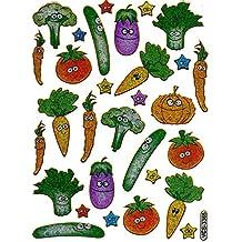 Pepino tomate zanahoria coloures 29 piezas 1 11 hojas pegatinas 135 mm x 100 mm manualidades