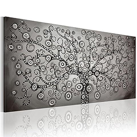 murando - Impression sur toile 120x60 cm - Image sur toile - Images - Photo - Tableau - 1 Partie - motif moderne - Décoration - tendu sur chassis - abstraction abstrait Arbre Gustav Klimt abstraction abstrait a-A-0271-b-a
