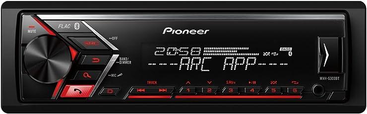 Pioneer MVH-S300BT | 1DIN Autoradio mit RDS | Bluetooth | USB | AUX-Eingang | iPod/iPhone-Direktsteuerung | Freisprecheinrichtung | ARC | Karaoke Mic Mixing |
