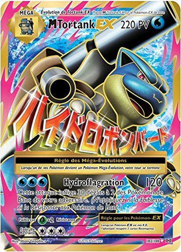 Carte Pokemon - XY12 - Evolutions - Tortank - PV 220 - 102/108 - Mega Ex - Ultra Rare - Full Art - VF
