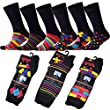Ayra� 12 Pairs of Mens Retro Odd Stripes and Spots Socks [UK 6-11]