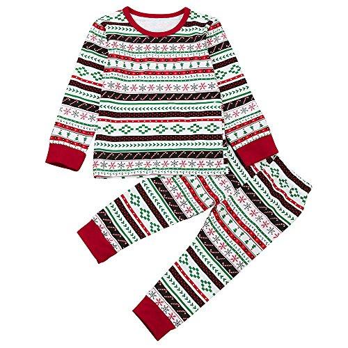Honestyi BabyBekleidung Kleinkind Kinder Baby Boy T Shirt Tops Hosen Weihnachten Outfits Set Bruder Kleidung (110,Rot)