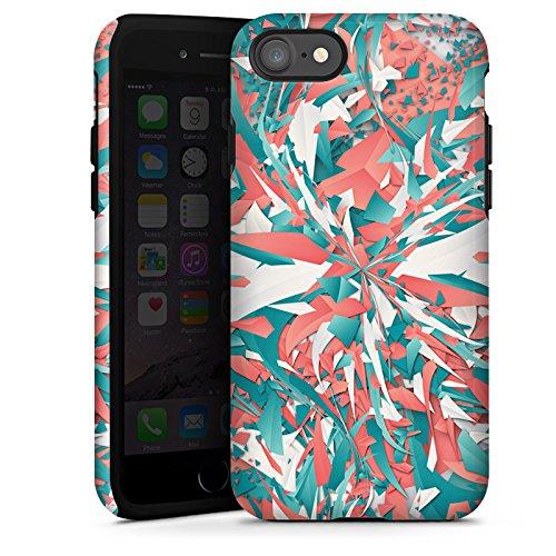 Apple iPhone X Silikon Hülle Case Schutzhülle Farben Explosion Kristalle Tough Case glänzend