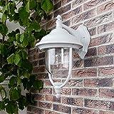 Außenwandleuchte in Weiß, klassische Form   Wandleuchte E27 230V   Wandlampe Außen max.60W   Leuchte IP44