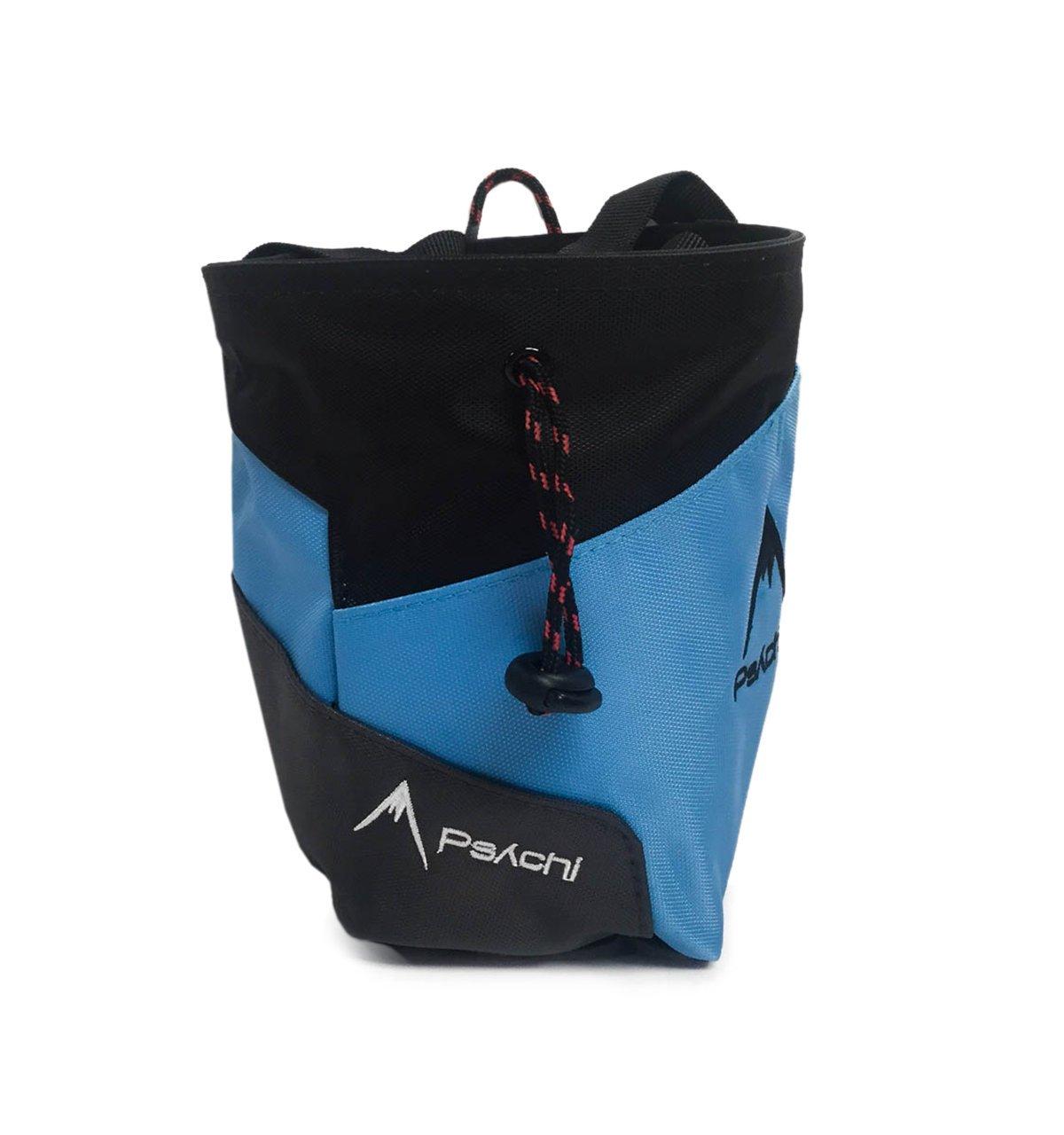 PsychiBolsa de accesorios para escalada en roca o en bloque para principiantes, alta calidad, con bola de tiza y cepillo, con cinturón